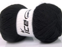 Lot of 4 x 100gr Skeins Ice Yarns MIRAGE (50% Wool) Hand Knitting Yarn Black