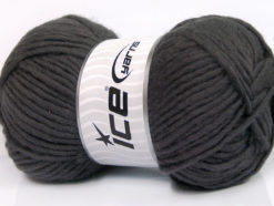 Lot of 4 x 100gr Skeins Ice Yarns FELTING WOOL (100% Wool) Yarn Dark Grey