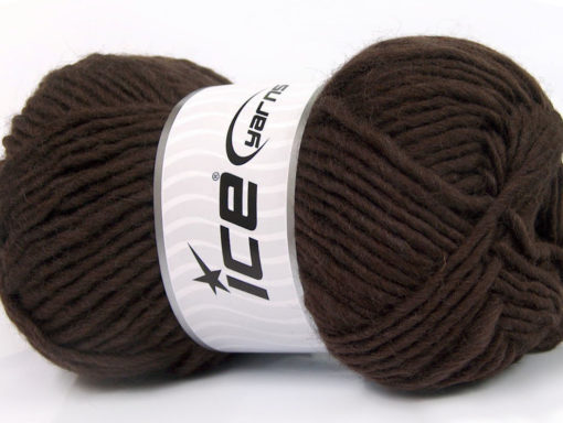 Lot of 4 x 100gr Skeins Ice Yarns FELTING WOOL (100% Wool) Yarn Dark Brown