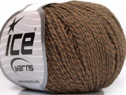 Lot of 4 Skeins Ice Yarns SILK COTTON (32% Silk 68% Cotton) Yarn Brown
