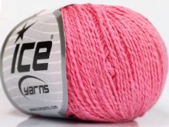 Lot of 4 Skeins Ice Yarns SILK COTTON (32% Silk 68% Cotton) Yarn Pink