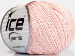 Lot of 4 Skeins Ice Yarns SILK COTTON (32% Silk 68% Cotton) Yarn Powder Pink