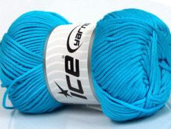 Lot of 4 x 100gr Skeins Ice Yarns TUBE VISCOSE (73% Viscose) Yarn Turquoise