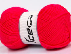 Lot of 4 x 100gr Skeins Ice Yarns GONCA Hand Knitting Yarn Neon Pink