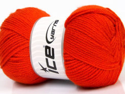 Lot of 4 x 100gr Skeins Ice Yarns GONCA Hand Knitting Yarn Dark Orange