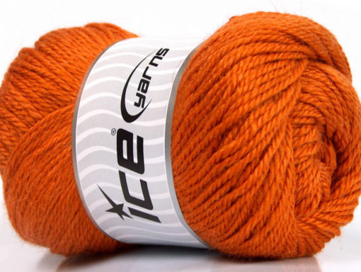 Lot of 4 x 100gr Skeins Ice Yarns NORSK (45% Alpaca 25% Wool) Yarn Orange