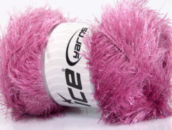 Lot of 4 x 100gr Skeins Ice Yarns EYELASH GLITZ Hand Knitting Yarn Orchid
