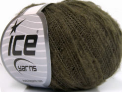Lot of 10 Skeins Ice Yarns KID MOHAIR FLAMME (37% Kid Mohair) Yarn Khaki