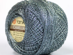 Lot of 10 Skeins YarnArt CAMELLIA (30% Metallic) Hand Knitting Yarn Grey Silver
