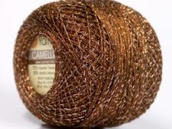 Lot of 10 Skeins YarnArt CAMELLIA (30% Metallic) Yarn Copper Silver
