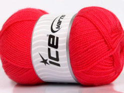 Lot of 4 x 100gr Skeins Ice Yarns DORA Hand Knitting Yarn Salmon