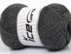 Lot of 4 x 100gr Skeins Ice Yarns DORA Hand Knitting Yarn Dark Grey