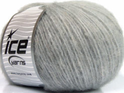 Lot of 8 Skeins Ice Yarns ALPACA SOFTAIR (25% Alpaca 15% Superwash Merino Wool) Yarn Grey