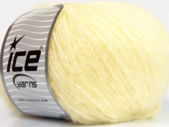 Lot of 8 Skeins Ice Yarns ALPACA SOFTAIR (25% Alpaca 15% Superwash Merino Wool) Yarn Light Yellow