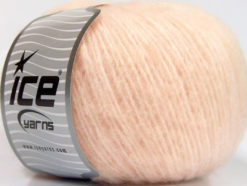 Lot of 8 Skeins Ice Yarns ALPACA SOFTAIR (25% Alpaca 15% Superwash Merino Wool) Yarn Light Salmon
