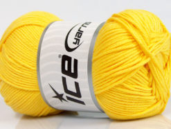 Lot of 4 x 100gr Skeins Ice Yarns BABY COTTON 100GR (100% Giza Cotton) Yarn Yellow