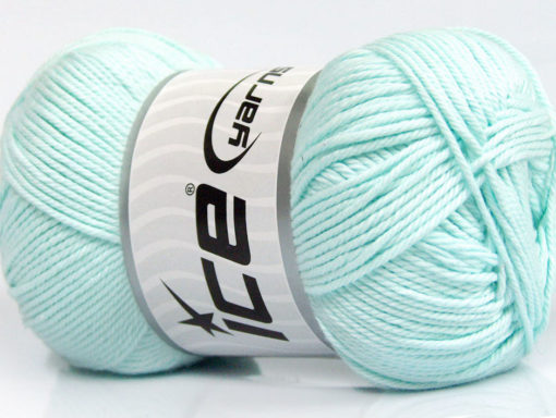 Lot of 4 x 100gr Skeins Ice Yarns BABY COTTON 100GR (100% Giza Cotton) Yarn Light MintGreen