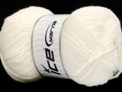Lot of 4 x 100gr Skeins Ice Yarns ELITE WOOL (30% Wool) Yarn Off White