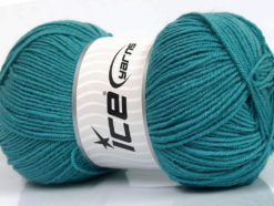 Lot of 4 x 100gr Skeins Ice Yarns ELITE WOOL (30% Wool) Yarn Emerald Green