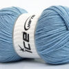 Lot of 4 x 100gr Skeins Ice Yarns ELITE WOOL (30% Wool) Yarn Light Blue