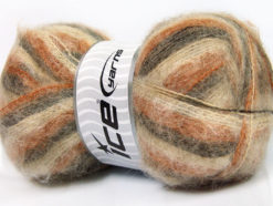 Lot of 4 x 100gr Skeins Ice Yarns BERMUDA MOHAIR (70% Mohair) Yarn Brown Shades Camel