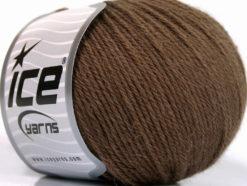 Lot of 4 Skeins Ice Yarns BABY ALPACA (45% Superwash Extrafine Merino Wool) Yarn Brown