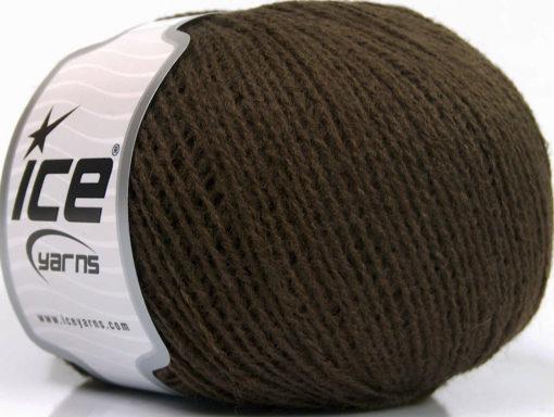 Lot of 8 Skeins Ice Yarns WOOL FINE 30 (30% Wool) Hand Knitting Yarn Brown