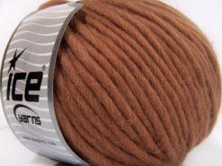 Lot of 4 x 100gr Skeins Ice Yarns PURE WOOL SUPERBULKY (100% Australian Wool) Yarn Rose Brown
