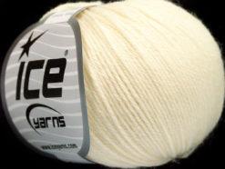 Lot of 4 Skeins Ice Yarns BABY ALPACA (55% Baby Alpaca 45% Superwash Extrafine Merino Wool) Yarn Cream