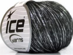 Lot of 8 Skeins Ice Yarns ROCK STAR (19% Merino Wool) Yarn Black Silver