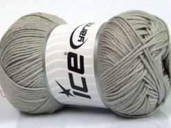 Lot of 4 x 100gr Skeins Ice Yarns BABY COTTON 100GR (100% Giza Cotton) Yarn Grey