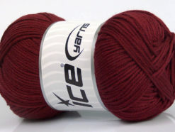 Lot of 4 x 100gr Skeins Ice Yarns BABY COTTON 100GR (100% Giza Cotton) Yarn Burgundy