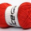 Lot of 4 x 100gr Skeins Ice Yarns BABY COTTON 100GR (100% Giza Cotton) Yarn Orange