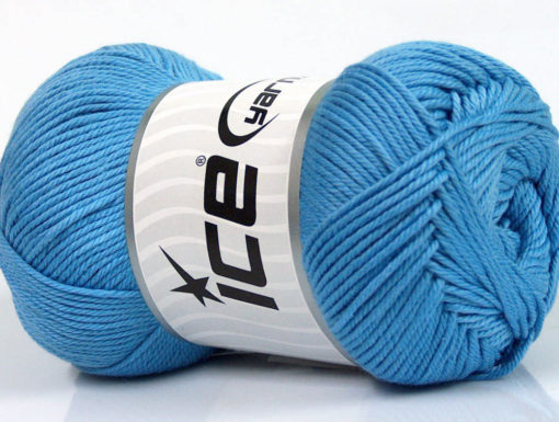 Lot of 4 x 100gr Skeins Ice Yarns BABY COTTON 100GR (100% Giza Cotton) Yarn Light Blue