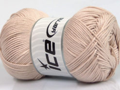 Lot of 4 x 100gr Skeins Ice Yarns BABY COTTON 100GR (100% Giza Cotton) Yarn Beige