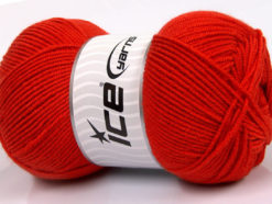 Lot of 4 x 100gr Skeins Ice Yarns BAMBOO SOFT FINE (50% Bamboo) Yarn Tomato Red