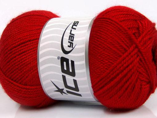 Lot of 4 x 100gr Skeins Ice Yarns DORA Hand Knitting Yarn Red