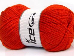 Lot of 4 x 100gr Skeins Ice Yarns CLASSIC CHUNKY Yarn Dark Orange