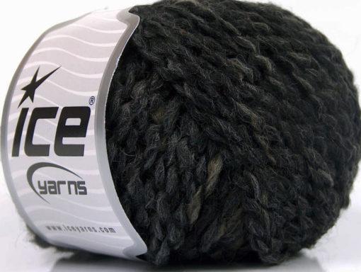 Lot of 8 Skeins Ice Yarns TIGER ALPACA (20% Alpaca 38% Wool) Yarn Black Grey Camel