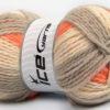 Lot of 4 x 100gr Skeins Ice Yarns DESIGN WOOL WORSTED (30% Wool) Yarn Grey Orange Cream