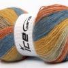 Lot of 4 x 100gr Skeins Ice Yarns ANGORA PRINT (20% Angora 20% Wool) Yarn Blue Gold Beige Salmon