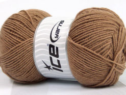 Lot of 4 x 100gr Skeins Ice Yarns ELITE WOOL (30% Wool) Yarn Camel