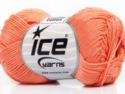 Lot of 6 Skeins Ice Yarns CAMILLA COTTON (100% Mercerized Cotton) Yarn Light Orange