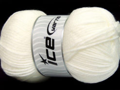 Lot of 4 x 100gr Skeins Ice Yarns Worsted FAVORITE Hand Knitting Yarn White