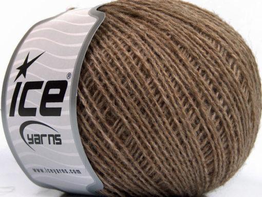 Lot of 8 Skeins Ice Yarns WOOL FINE 30 (30% Wool) Yarn Camel Melange