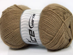 Lot of 4 x 100gr Skeins Ice Yarns Worsted FAVORITE Hand Knitting Yarn Camel