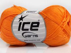 Lot of 6 Skeins Ice Yarns ALMINA COTTON (100% Mercerized Cotton) Yarn Orange