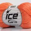 Lot of 6 Skeins Ice Yarns ALMINA COTTON (100% Mercerized Cotton) Yarn Salmon