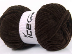 Lot of 4 x 100gr Skeins Ice Yarns CHENILLE BABY (100% MicroFiber) Yarn Coffee Brown
