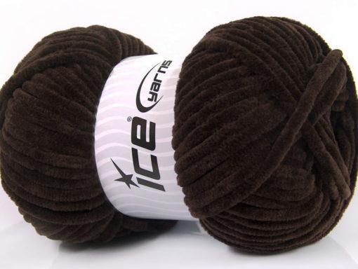 Lot of 4 x 100gr Skeins Ice Yarns CHENILLE BABY (100% MicroFiber) Yarn Coffee Brown